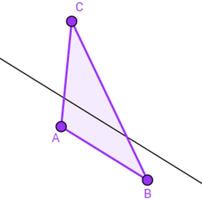 Triângulo e o teorema fundamental da semelhança