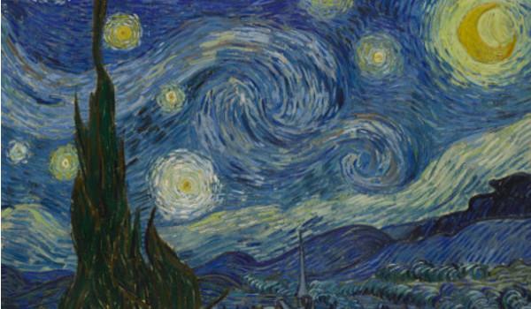 """Van Gogh produziu """"A noite estrelada"""" quando estava internado em um hospital psiquiátrico em 1889, na França*"""