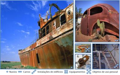 Vários objetos são danificados regularmente pela corrosão dos metais, causando grande perda econômica e social
