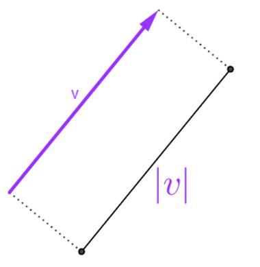 Vetor v e notação utilizada para sua norma