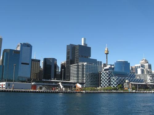 Vista da cidade de Sidney, capital da Austrália