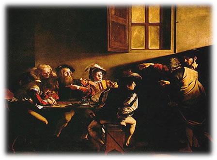 Vocação de São Mateus -  Caravaggio (1571-1610) - Itália