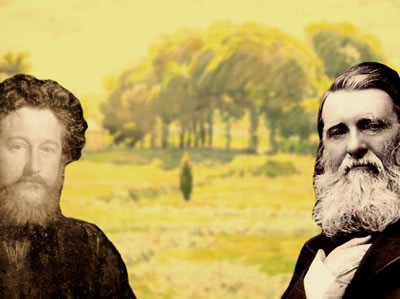 William Morris e John Ruskin: dois grandes precursores do Art Nouveau.