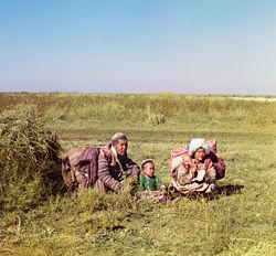 Agricultores na Ásia Centra
