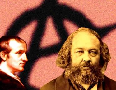 Godwin e Bakunin defendiam a extinção de qualquer autoridade que limitasse a ação humana