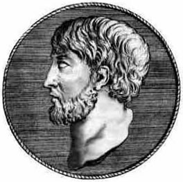Anaxímenes de Mileto - Fez parte da Escola Jônica. Foi discípulo de Anaximandro