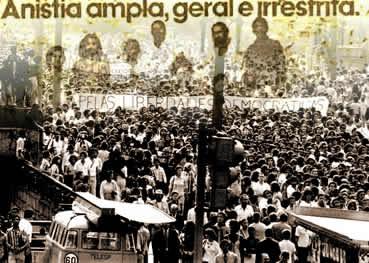 O uso da anistia, em 1979, marcou o fim do regime militar brasileiro