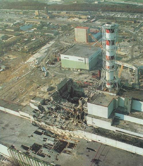 Ruínas da Usina de Chernobyl na Ucrânia.