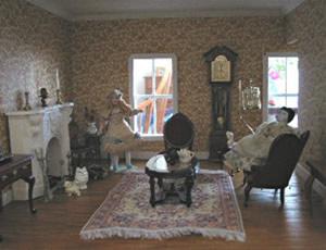 Casa de bonecas em miniatura
