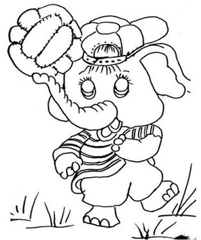 Elefantinho para Colorir