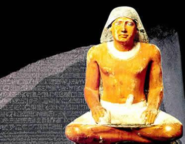 A escrita tinha uma importância fundamental no cotidiano da sociedade egípcia.