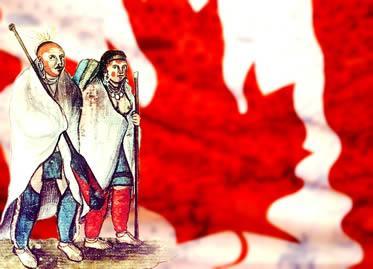 A formação da nação canadense é marcada pela presença de diferentes povos