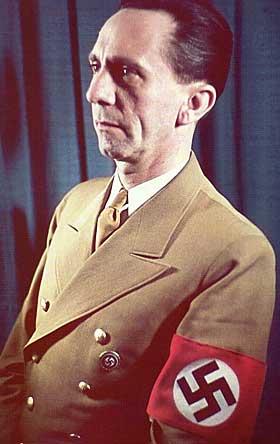 Joseph Goebbels. Hábil orador e Ministro da Propaganda do Nazismo, Goebbels foi o responsável pela difusão do nazismo na Alemanha.
