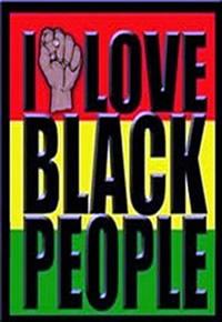 Emblema que promove a raça negra (Eu amo pessoas negras)