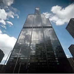Localizado em Chicago, o Sears Tower mede 520 metros de altura