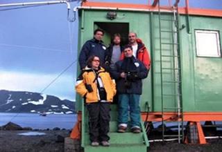 Estação científica na Antártida