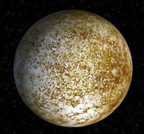 Aspecto visual do planeta Mercúrio