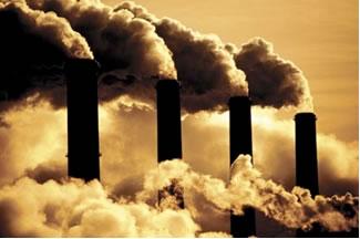 Emissão de gases poluentes