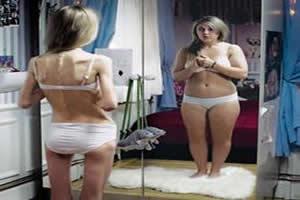 A distorção da imagem corporal é uma característica da anorexia