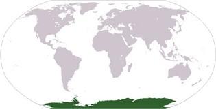 Localização da Antártida no Globo