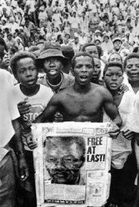 Manifestação contra o Apartheid