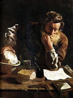 Arquimedes descobriu o princípio que permite calcular o empuxo que atua sobre um corpo quando mergulhado em um fluido qualquer