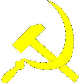 A foice e o martelo tornaram-se símbolo do socialismo