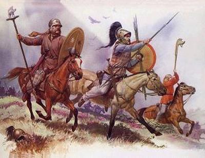 Os bárbaros, além de exímios guerreiros, eram excelentes criadores de cavalos.