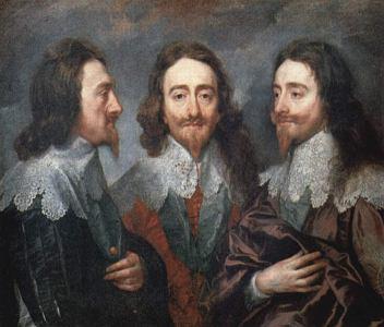 """Reprodução do quadro """"Retrato de Carlos I da Inglaterra"""", do pintor belga Van Dyck."""