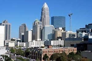 Charlotte, a maior cidade da Carolina do Norte
