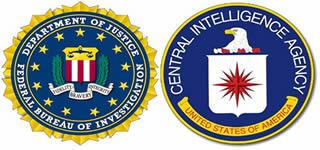 Símbolos do FBI e da CIA, respectivamente