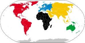 Os continentes nas atuais configurações