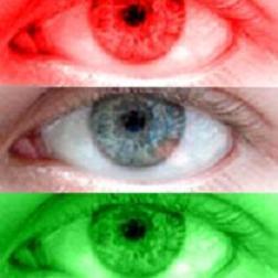 O daltonismo e a percepção confusa de algumas cores.