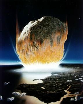 A queda do asteroide que pós fim a era dos dinossauros