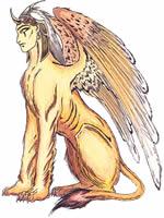 A esfinge era um monstro alado com corpo de mulher e leão