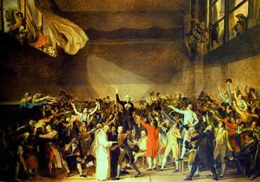 Mobilização do Terceiro-Estado na sala do Jogo da Péla: o conflito inicial da revolução