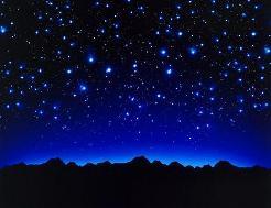 As estrelas no céu