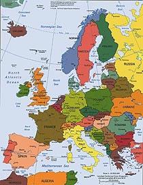 A Europa é um continente bastante povoado