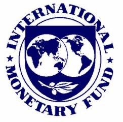 Logotipo do FMI (Fundo Monetário Internacional).