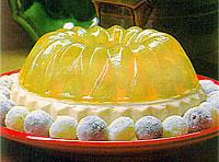 Gelatina em forma de sobremesa
