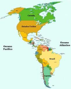 Aconteceram, no continente americano, dois tipos de colonização.