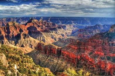 A linda da paisagem do Grand Canyon, Arizona (Estados Unidos)