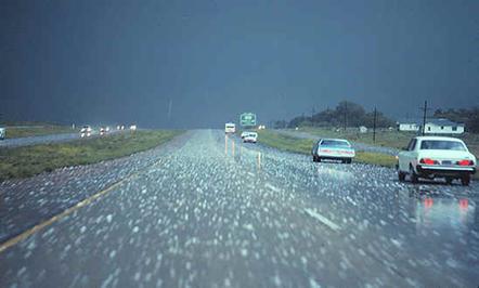 Precipitação de granizo
