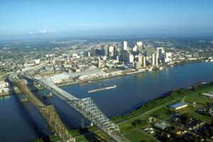 Nova Orleans é a maior cidade de Lousiania
