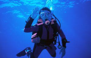 É necessário um curso rápido para a prática do mergulho