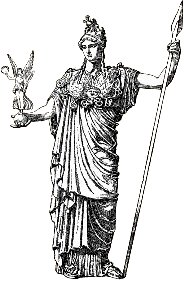 Minerva corresponde à deusa Atena na mitologia grega