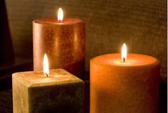 A parafina é muito utilizada na produção de velas