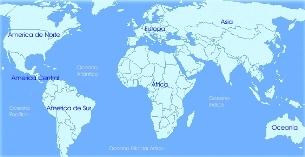 Planisfério : Quando se deseja representar grande extensão de terra.