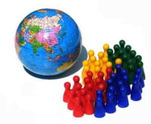 A Terra abriga aproximadamente 6,5 bilhões de habitantes