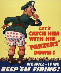 Propaganda sobre a Segunda Guerra Mundial, denegrindo a imagem de Hitler